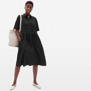 everlane   the parklet shirtdress black 2